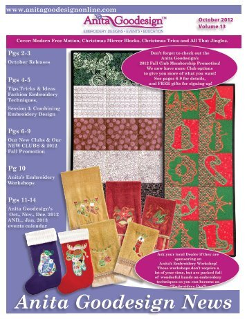 October 2012 Newsletter - Anita Goodesign