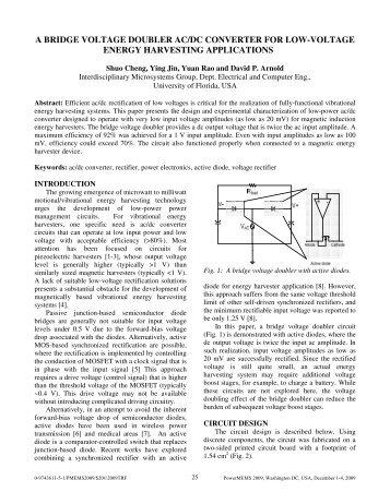 a bridge voltage doubler ac/dc converter for - Control and Power