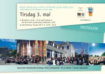 Tirsdag 3. mai - visitBergen
