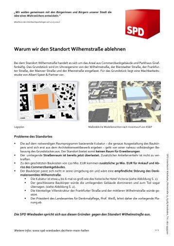 Warum wir den Standort Wilhemstraße ablehnen - SPD Wiesbaden