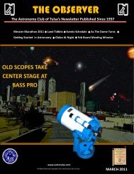 THE OBSERVER - Astronomy Club of Tulsa