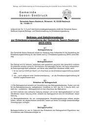 Beitrags- und Gebührensatzung zur ... - Seeon - Seebruck