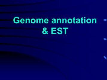 Genome annotation & EST