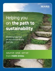 Mars Drinks – Helping you on the path to sustainability - BOMA