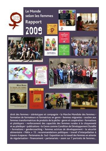 Rapport 2009 - Le Monde selon les femmes
