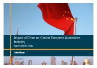 Impact of China on Central European Automotive ... - Roland Berger