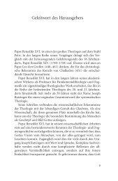 Geleitwort des Herausgebers - Institut Papst Benedikt XVI.