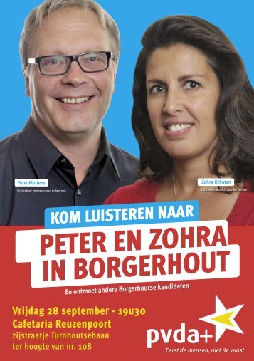 PeteR en zohRa in boRgeRhout - PVDA Antwerpen