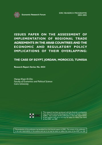 issues paper on the assessment of implementation of regional trade ...