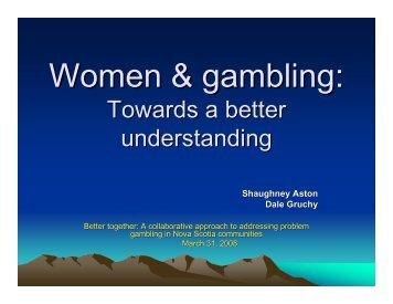 Gambling awareness foundation nova scotia big bear casino minnesota