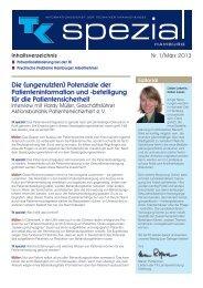 TK spezial Ausgabe 1 - März 2013 - Techniker Krankenkasse