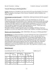 Versuch: Messung von Reibungskräften Geräte: Kraftmesser ...