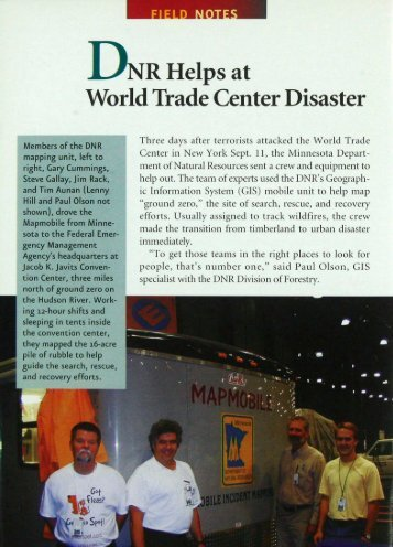 435 DNR Helps at World Trade Center Disaster - webapps8