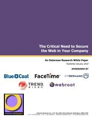 Sponsors of This White Paper - Osterman Research