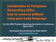Introduction to Telephone Counselling Skills: how to ... - ACWA