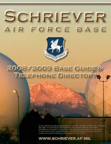 PETERSON AFB RESOURCES - Schriever Air Force Base