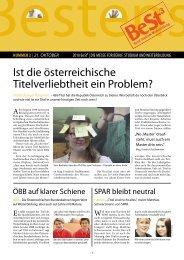 Ist die österreichische Titelverliebtheit ein Problem? - VISIO-Tirol