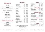 Barkarte (pdf) - Restaurant