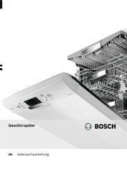 Bedienungsanleitung zu BOSCH SPV 48 M 00 EU Concept ...