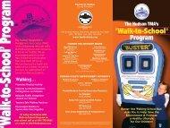Walk to School Program brochure - Hudson TMA