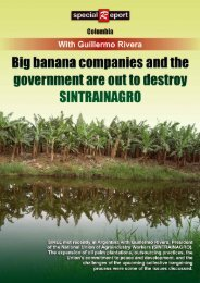 Big banana companies and the government are out to ... - Rel-UITA