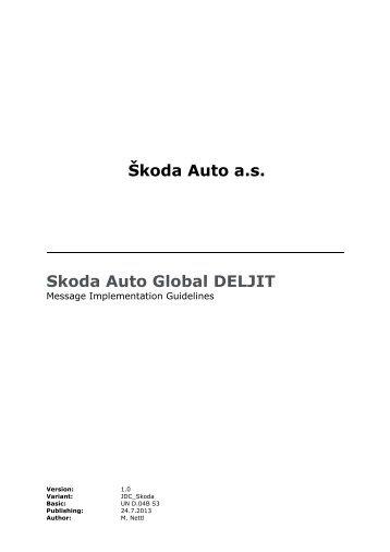 Åkoda Auto a.s. Skoda Auto Global DELJIT