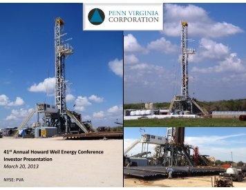 41st Annual Howard Weil Energy Conference ... - Investor Relations