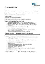 Übersicht Inhalte Advanced - Bildungszentrum Interlaken