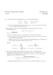 8.¨Ubung zu Theoretischer Physik II ¨Ubungstermin: SS 2008 16.05 ...