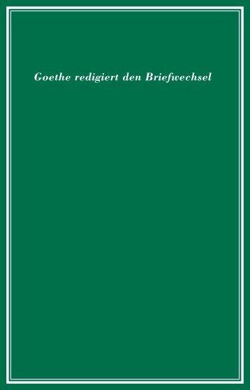 Goethe redigiert den Briefwechsel - Kulturexpress