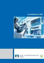 Geschäftsbericht 2006 - Raiffeisenbank Südstormarn Mölln eG