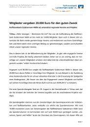 Mitglieder vergeben 20.000 Euro für den guten Zweck