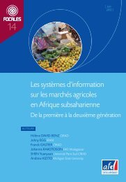 Les systèmes d'information sur les marchés agricoles en Afrique ...