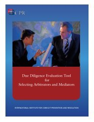 Due Diligence Evaluation Tool for Selecting Arbitrators and Mediators