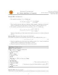Initiation `a l'informatique III. Calculs, Algorithmes et Complexité ...