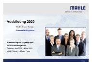 Ausbildung 2020 - Bodensee-Forum Personalmanagement