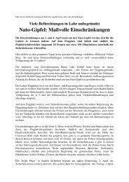 Nato-Gipfel: Maßvolle Einschränkungen - Nato-Gipfel 2009