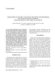 case report association of severe autosomal recessive osteopetrosis ...