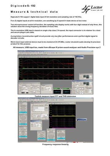 White paper tech info about Digicode S-192 - Lector-audio.com