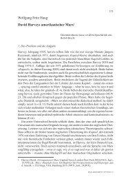 David Harveys amerikanischer Marx - Wolfgang Fritz Haug