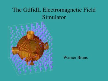 The GdfidL Electromagnetic Field Simulator - CLIC Meeting Home ...