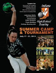 SUMMER CAMP - Indiana High School Bowling