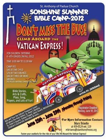 Registration Packet online here - St. Anthony of Padua Catholic ...