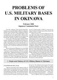 PROBLEMS OF U.S. MILITARY BASES IN OKINAWA