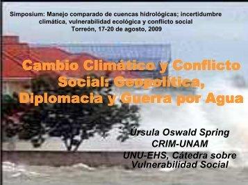 Cambio Clim Cambio Climático y Conflicto tico y Conflicto Social ...
