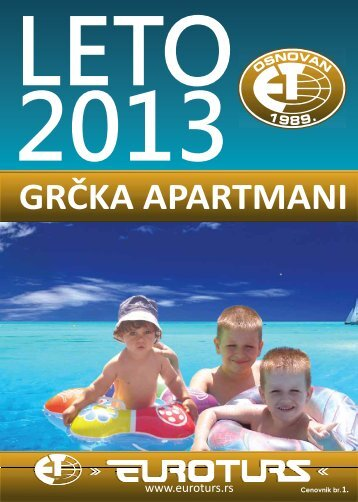 Preuzmite GRČKA APARTMANI 2013. - Euroturs