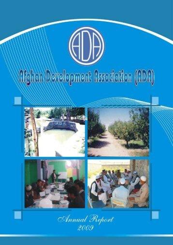 2. ADA Annual Report - 2009 - Afghan Development Association