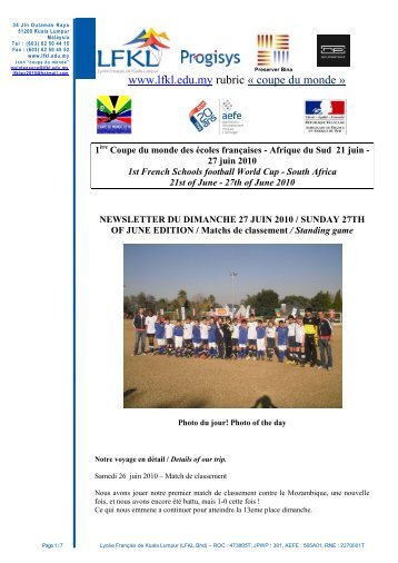 Tournoi de Futsall du samedi 29 novembre 2008 - LFKL