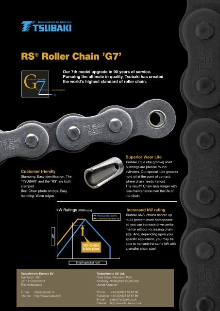 RS ® Roller Chain '