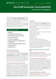 Das Profil humoraler Immunaktivität - biovis´ Diagnostik MVZ GmbH